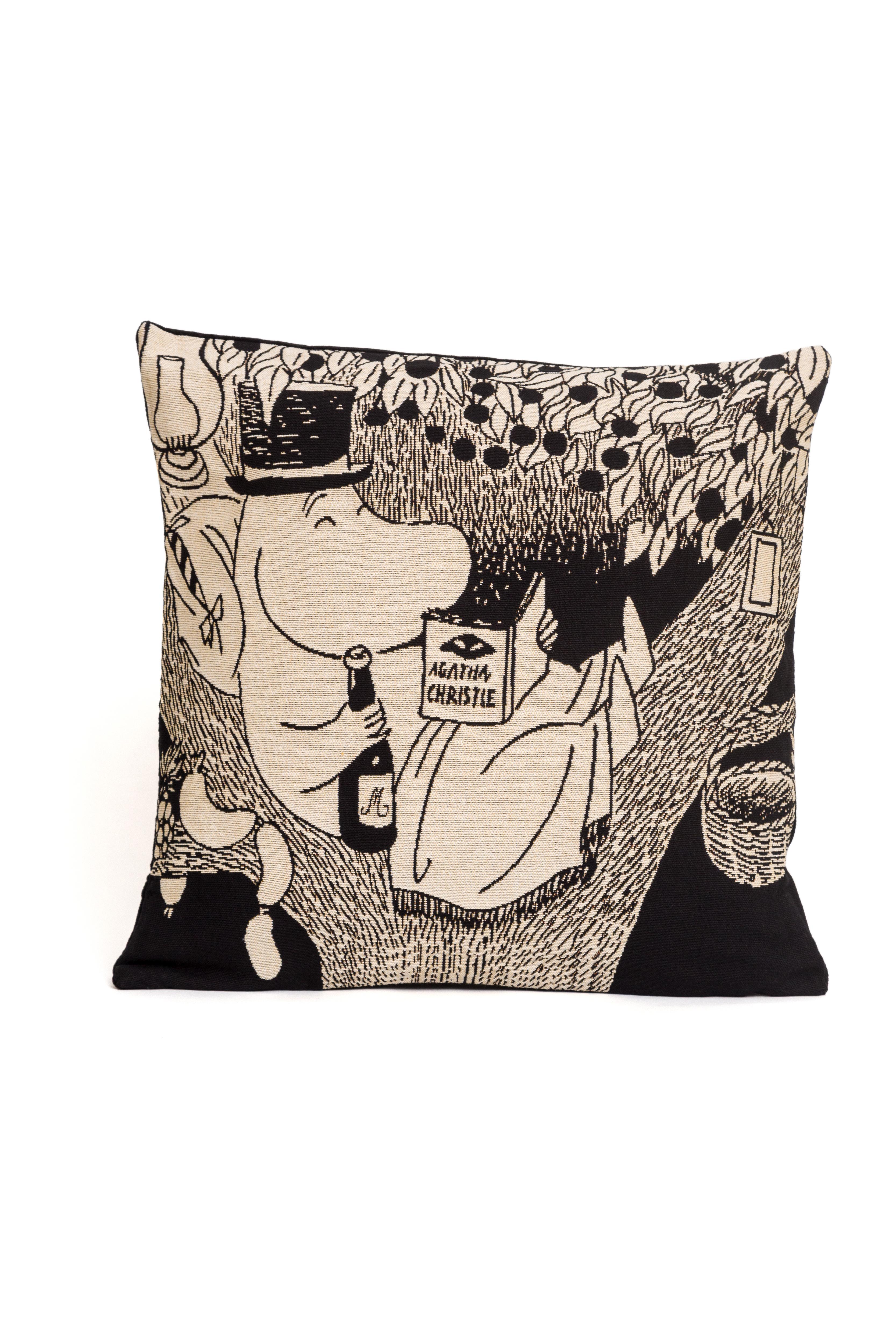 Aurora Decorari Moomin Gobelin Cushion Cover Pappa Reading 012CH