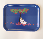 OPTO Tray 27x20 Moomin Apple Tree, Blue