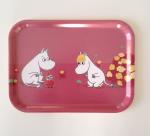 OPTO Tray 27x20 Moomin, Snorkmaiden & Little My, pink
