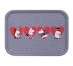 OPTO Tray 27x20 Grey X-mas Heart