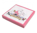 OPTO Napkins Teaparty Pink