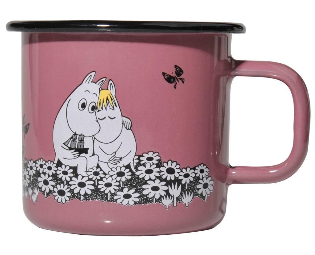 Muurla Enamel mug 3,7dl Retro Together Forever