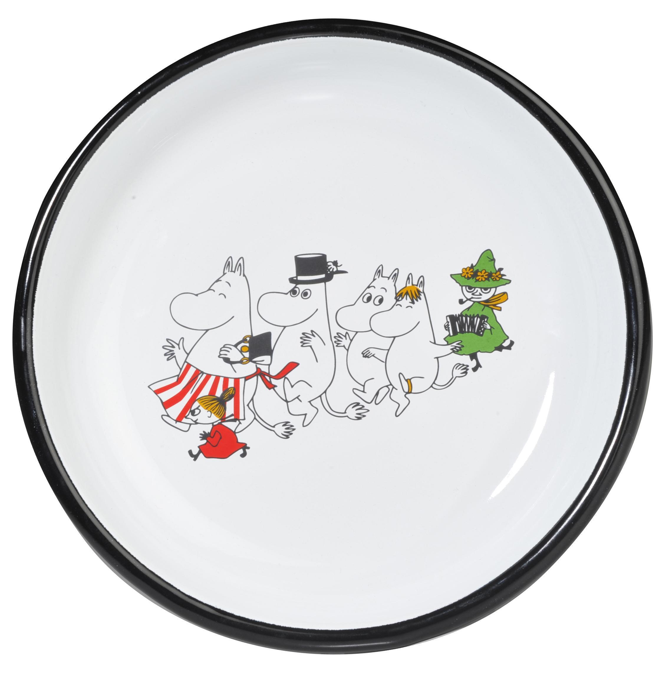 Muurla enamel plate 18cm Colors Moominvalley