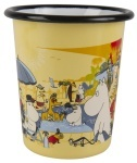Muurla enamel tumbler 4dl Moomins on the riviera Swimming pool