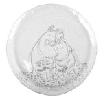 Muurla glass plate 26cm Together forever