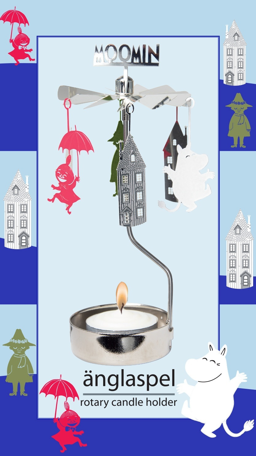 Pluto Rotary Candle Holder Moomin Friends & House