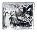 Pluto Fridge Magnet Moomin Boat