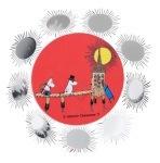 Pluto Fridge Magnet Moomin Sun