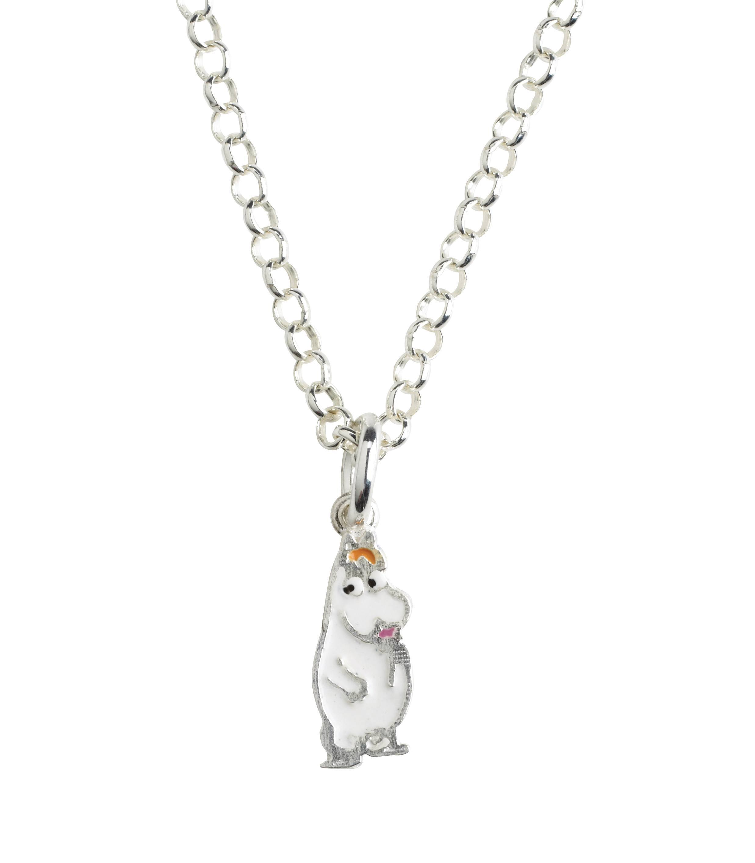 Nordahl Sliver necklace Snorkmaiden pendant silver with enamel