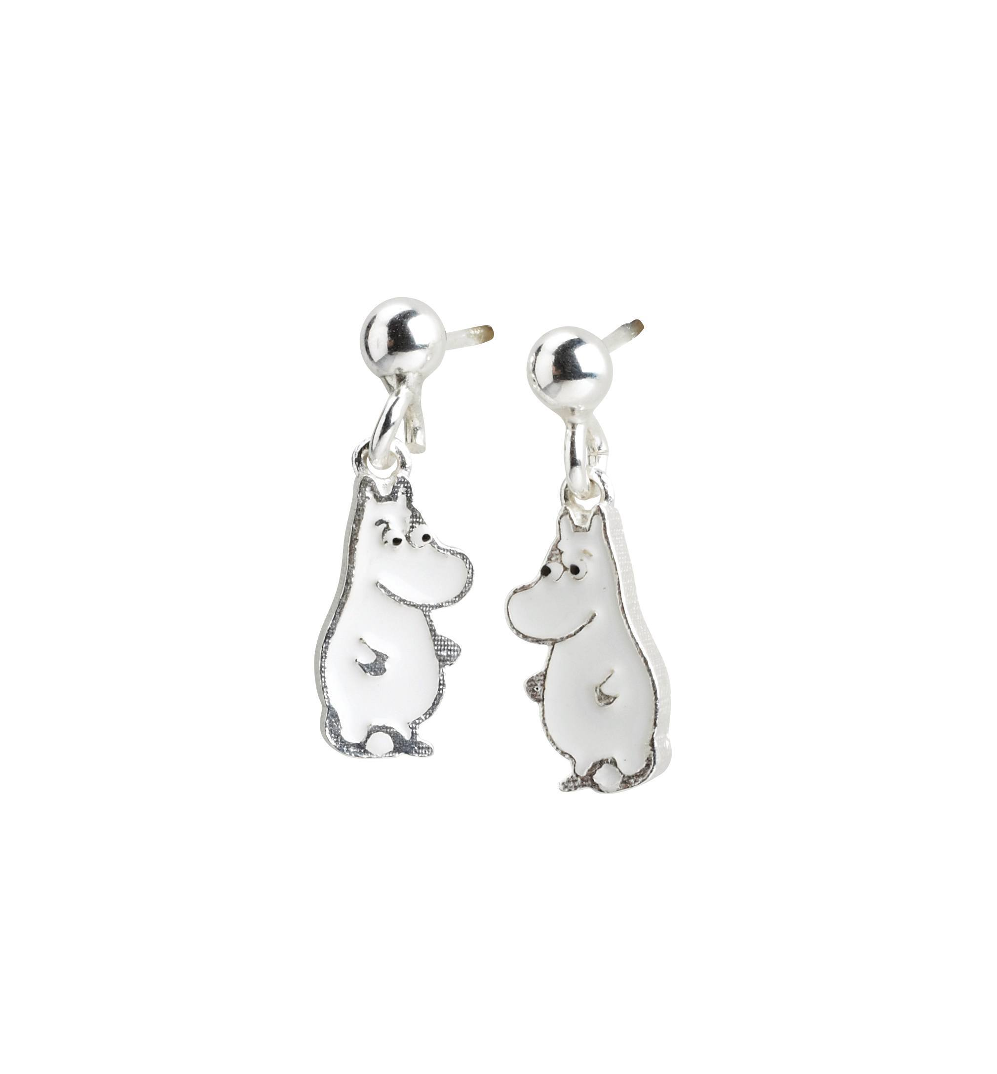 Nordahl Earrings Moomin silver with enamel