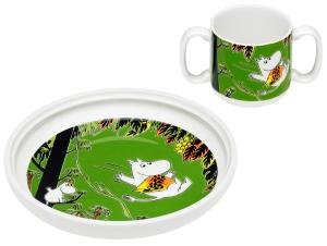 by Arabia Moomin mug & plate Jungle