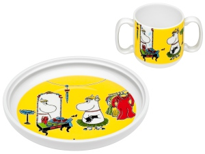 by Arabia Moomin mug & plate Role play