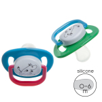 Rätt Start ORTHODONTIC PACIFIER, 0-6M, 2-PAC, MUMIN