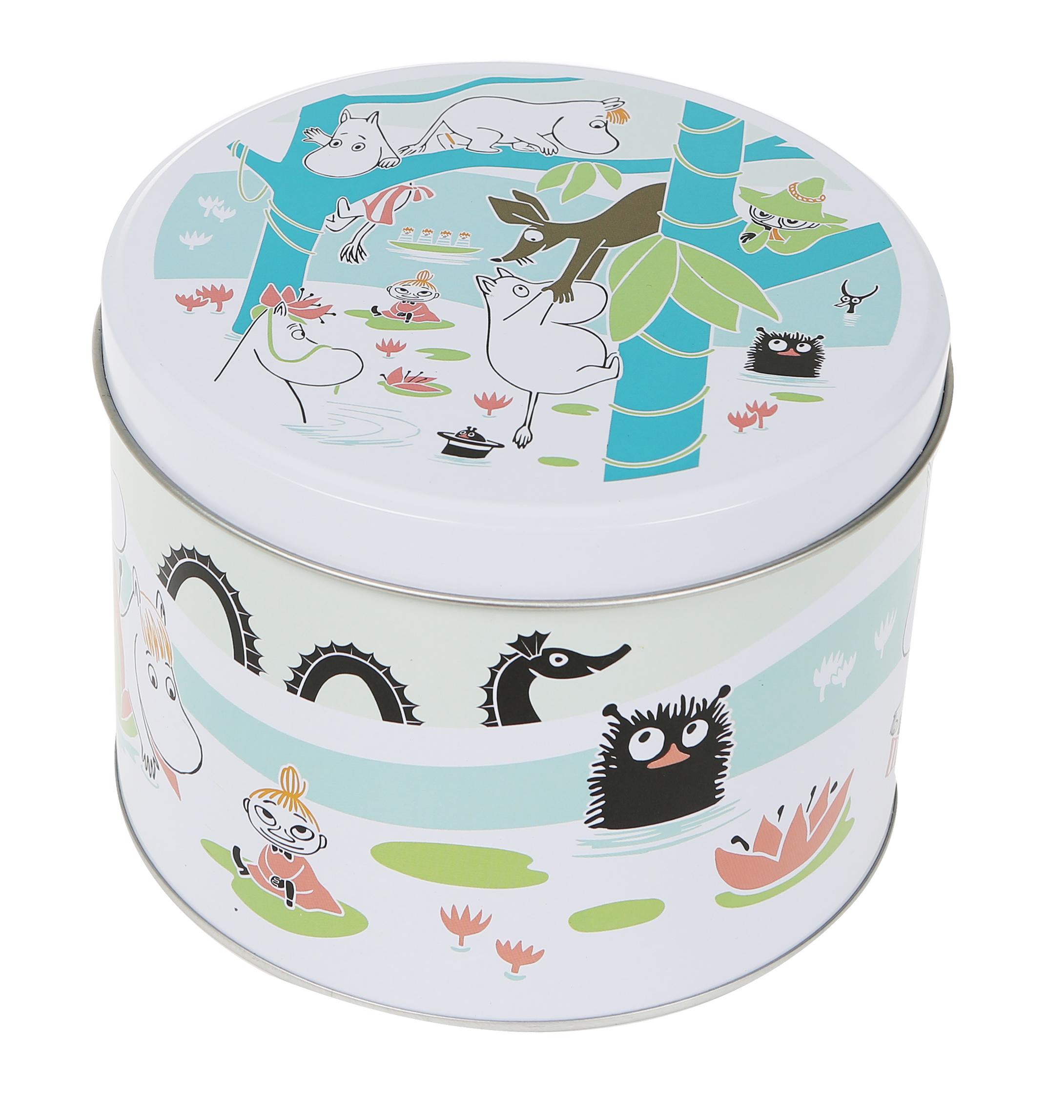Martinex Moomins at the pond round tin