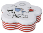 Martinex Moomin Picnic flower shape tin