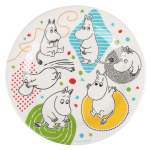 Martinex Moomin Whirls melamine plate