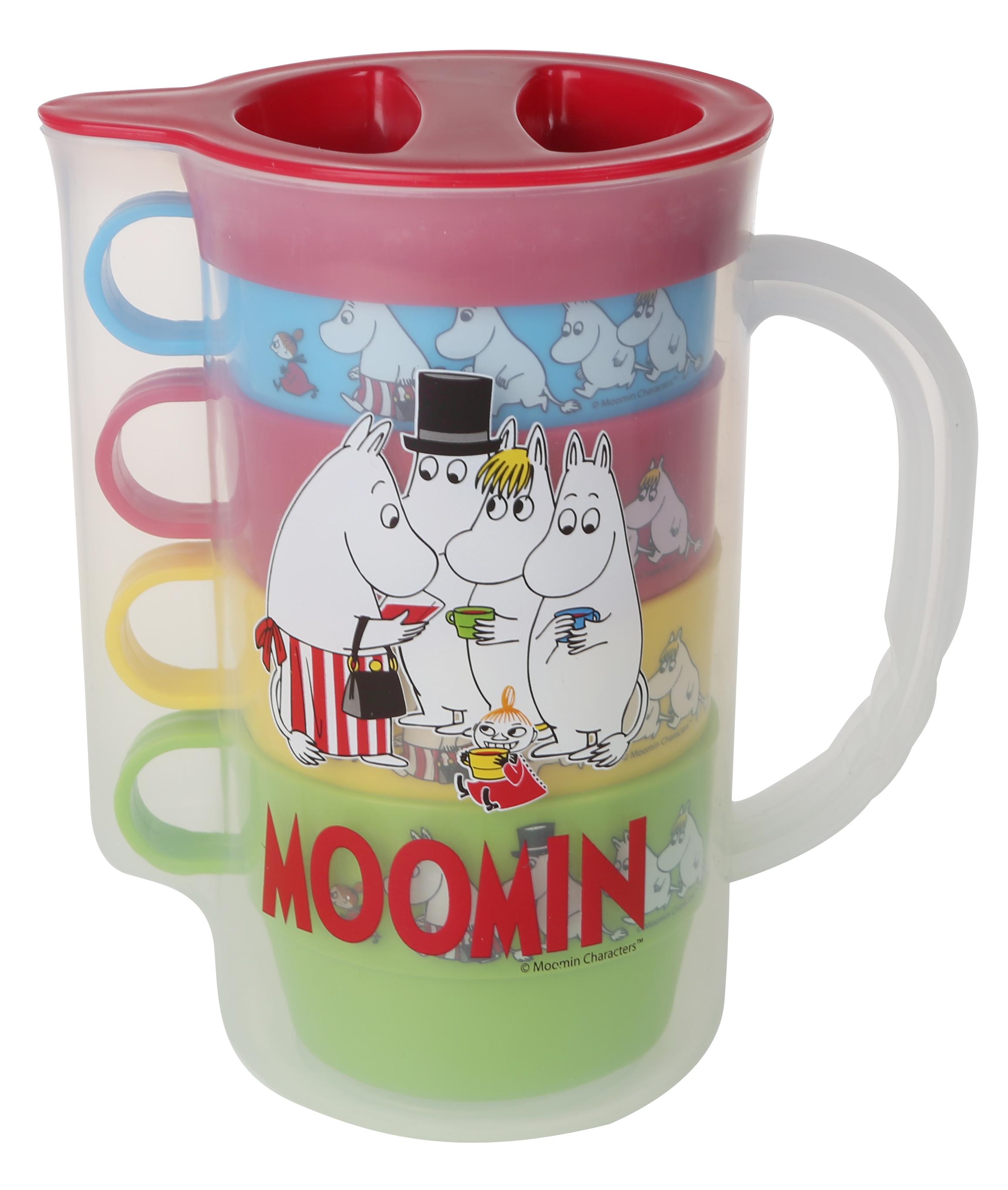 Martinex Moomin Picknick jug and 4 cups