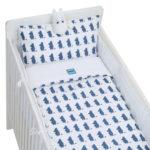 Rätt Start BED SET, CRIB BED,  MOOMIN SILHUETTE BLUE