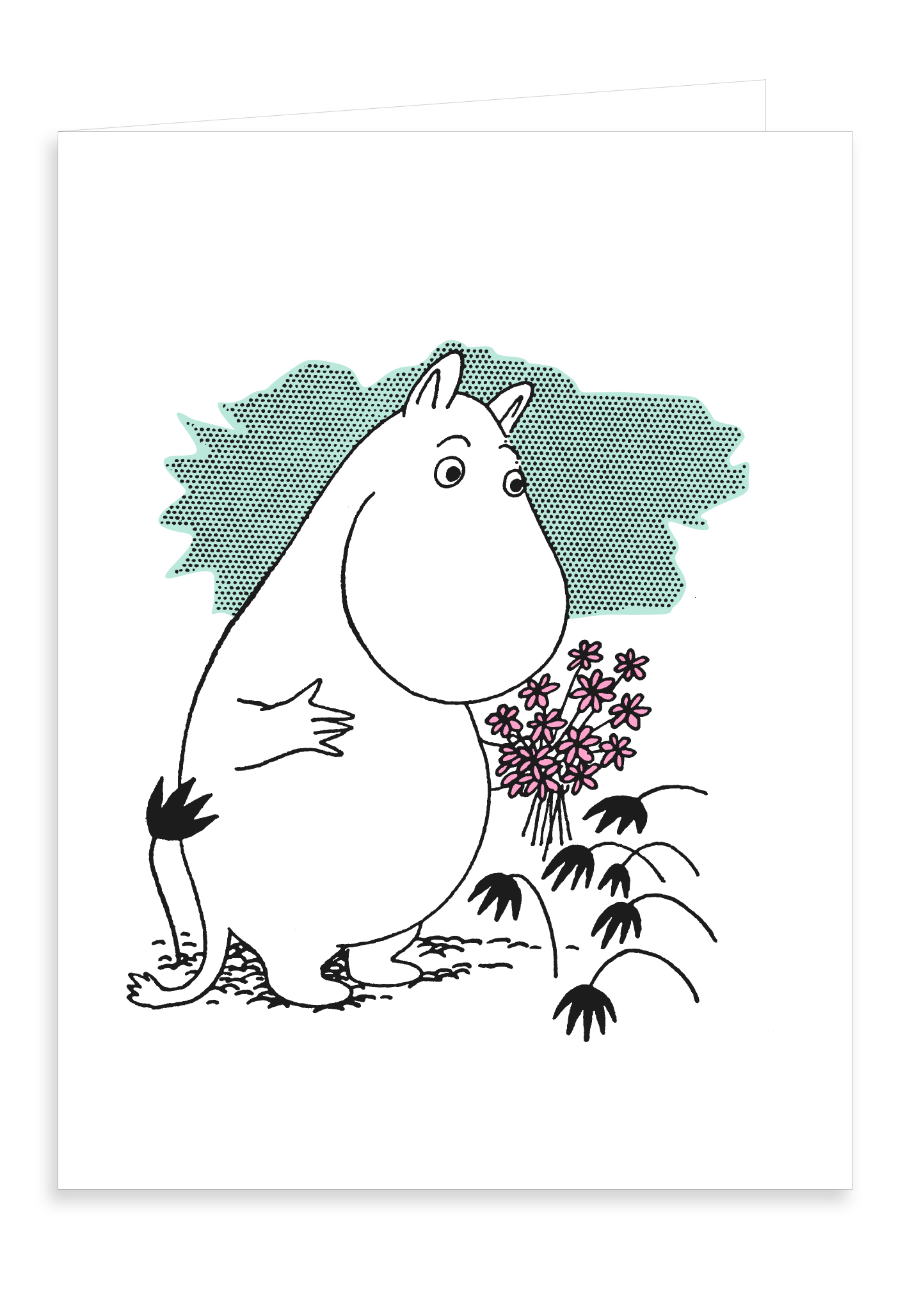 Putinki Letterpress Greeting Card Moomintroll