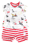 Martinex Moomin BEACH SHORTS SET WHT/RED