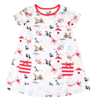 Martinex Moomin BEACH TUNIC WHT/RED