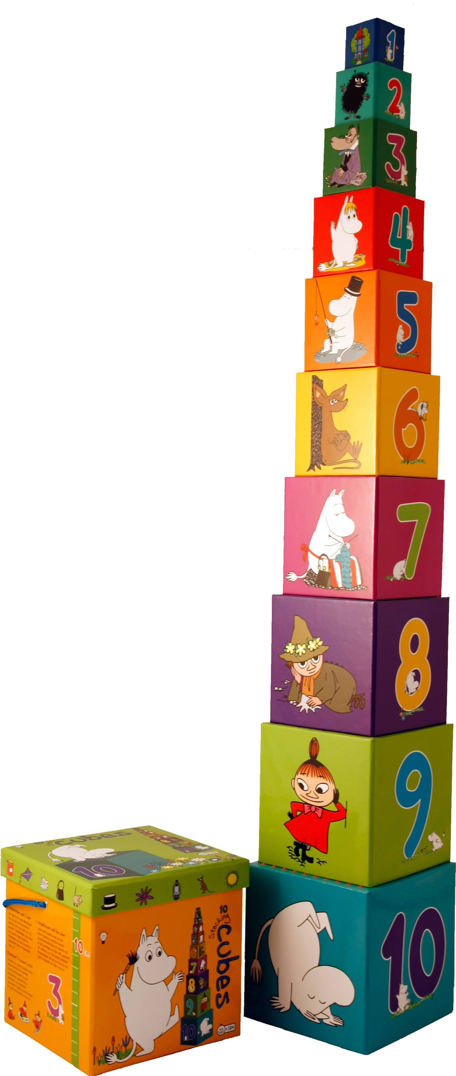 Barbo Toys stacking cubes Moomin