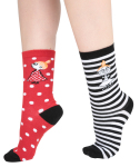 Martinex Moomin LITTLE MY DOTS SOCKS RED 2 PAIR 23-26