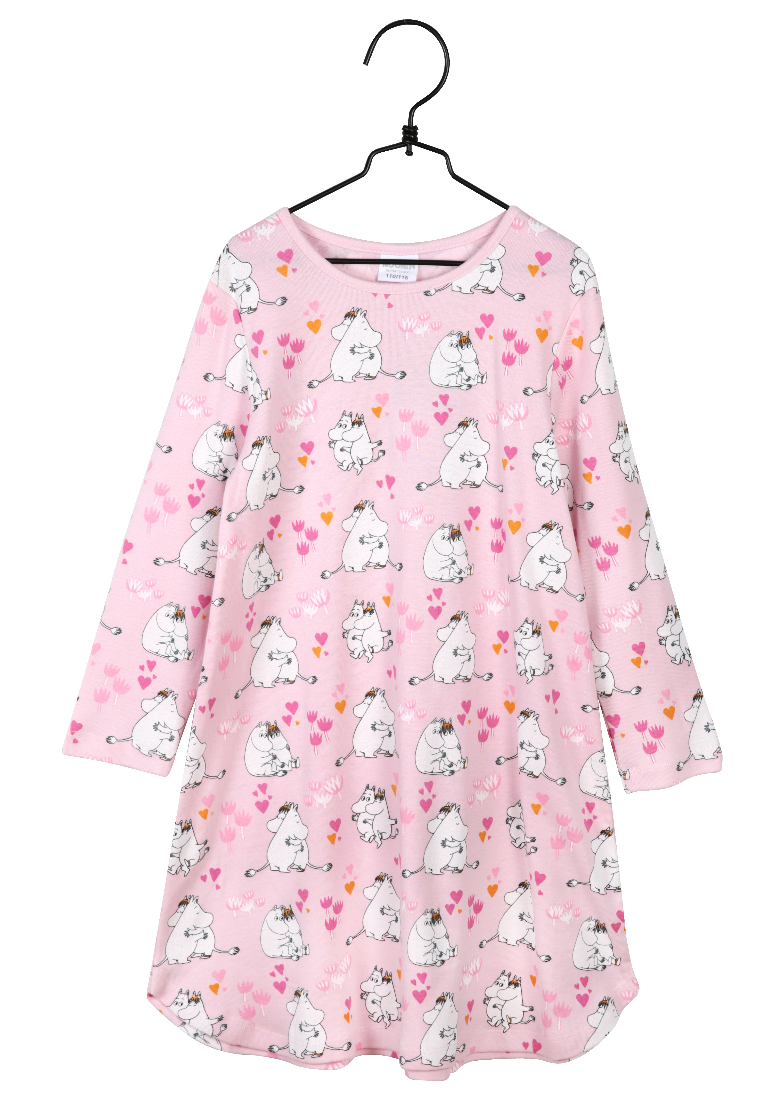 Martinex Love Long-Sleeve Nightgown Pink