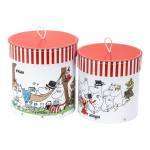 Bigso Hanna - set of 2 round boxes (colour)