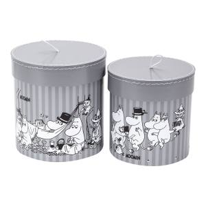 Bigso Hanna - set of 2 round boxes (grey)