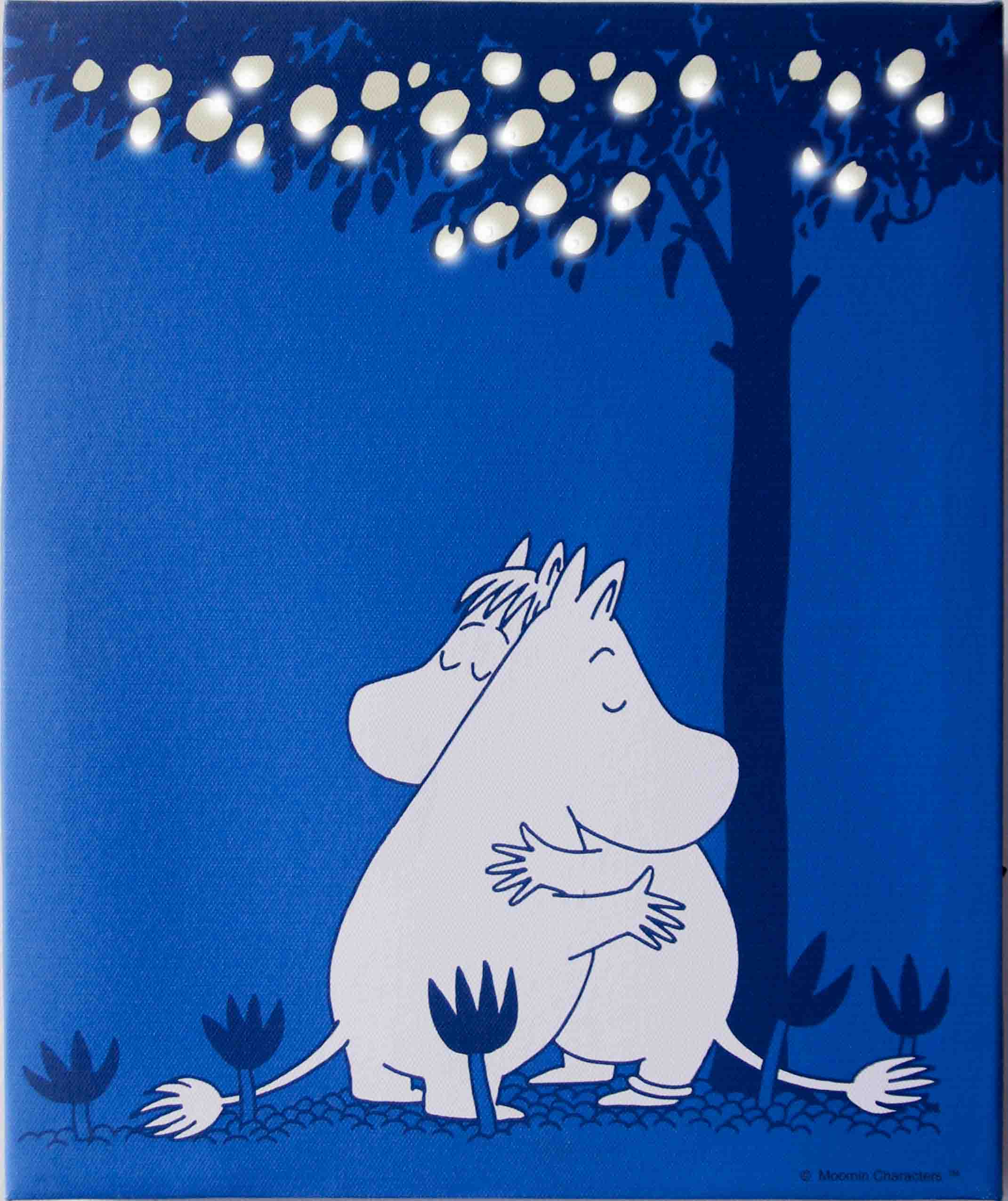 Pluto LED Canvas Moomin Hug