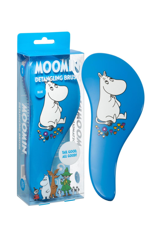 Rich Moomin Detangling Hairbrush Moomintroll Blue