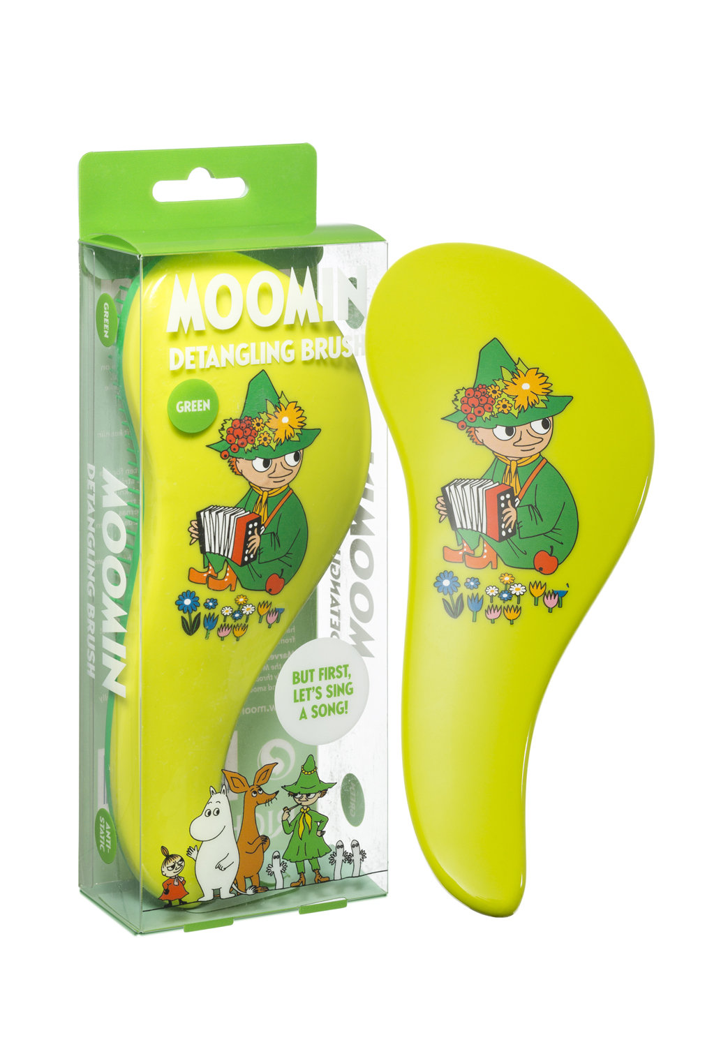 Rich Moomin Detangling Hairbrush Snufkin Green