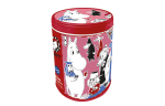 Fazer Moomin shaped biscuits in a tin