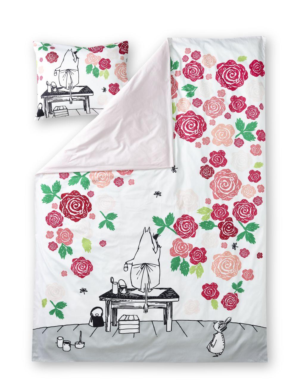 Finlayson Moominmamma rosegarden duvet cover set