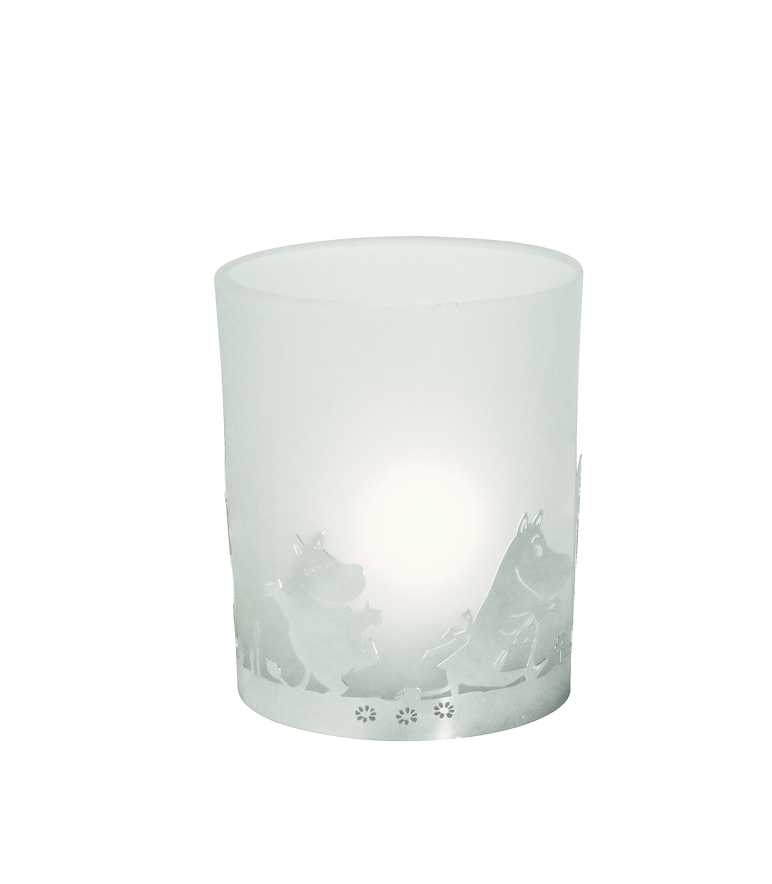 Pluto Tea Light Holder Glass