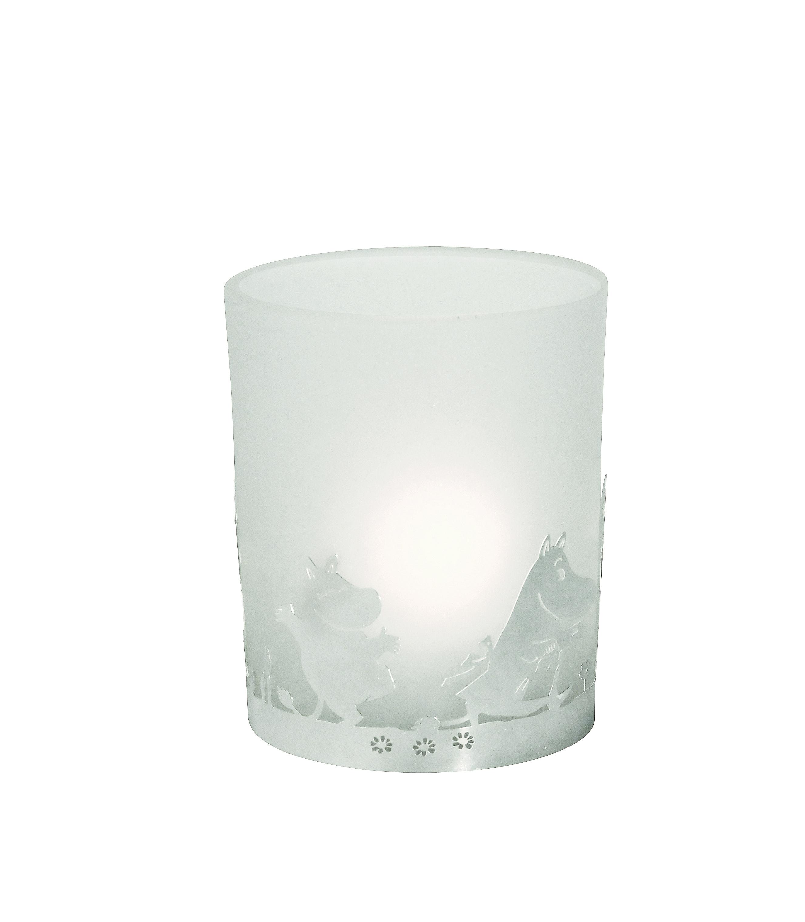 Pluto Tea Light Holder Glass