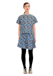 Ivana Helsinki Moomin Embroidered Denim Top and Skirt
