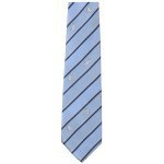 Lasessor adventure woven silk tie light blue