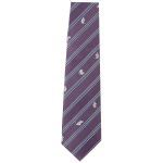 Lasessor adventure woven silk tie purple