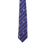 Lasessor adventure woven silk tie dark blue