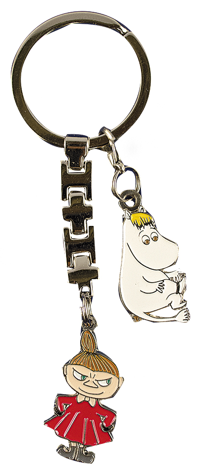 TMF Trade Little My & Snorkmaiden metal keyring