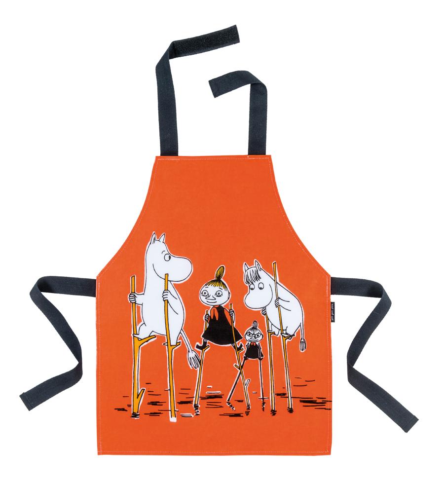 Petit Jour PVC coated cotton apron orange