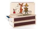 Isoisän Puulelut Matchbox, Little My, Moomin, Sniff, Snufkin & Hattifatteners