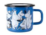 Muurla enamel mug 3,7dl for Moominshop Finland, blue
