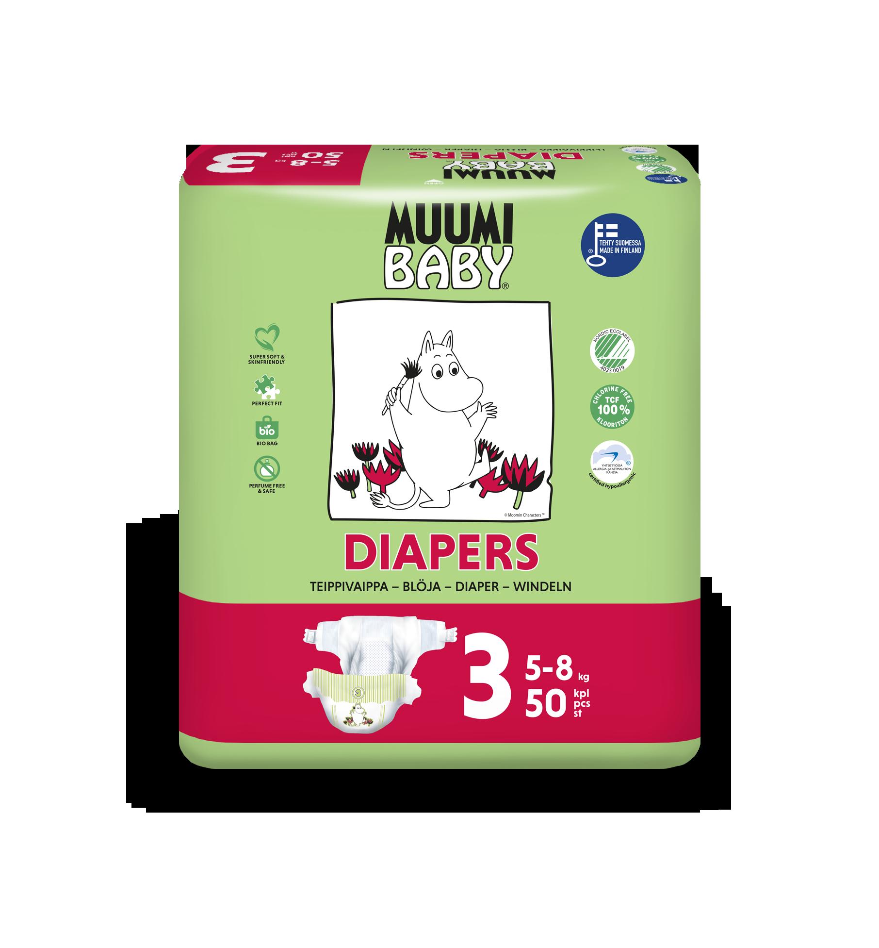 Delipap Muumi Baby Open Diapers, Midi