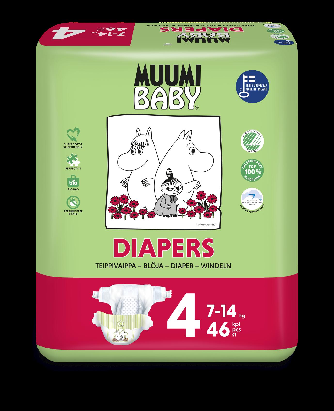 Delipap Muumi Baby Diapers 4