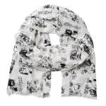 Lasessor Lomalla viscose scarf white