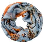 Lasessor Picnic silk snood light blue