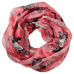 Lasessor Picnic silk snood light pink
